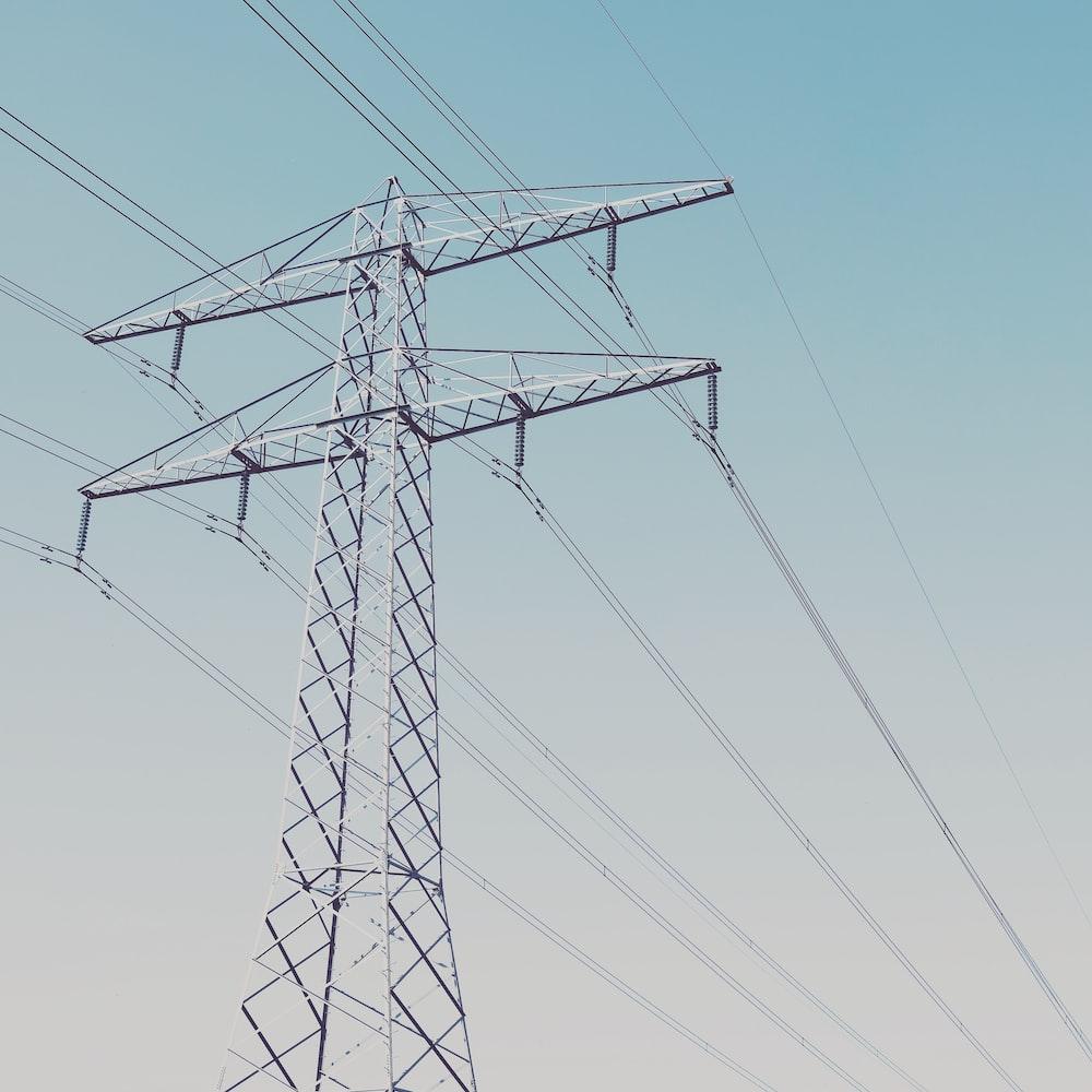 gray metal Transmission tower