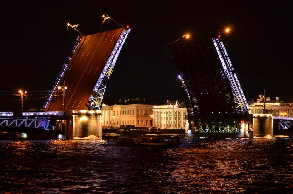 boat passing bridge