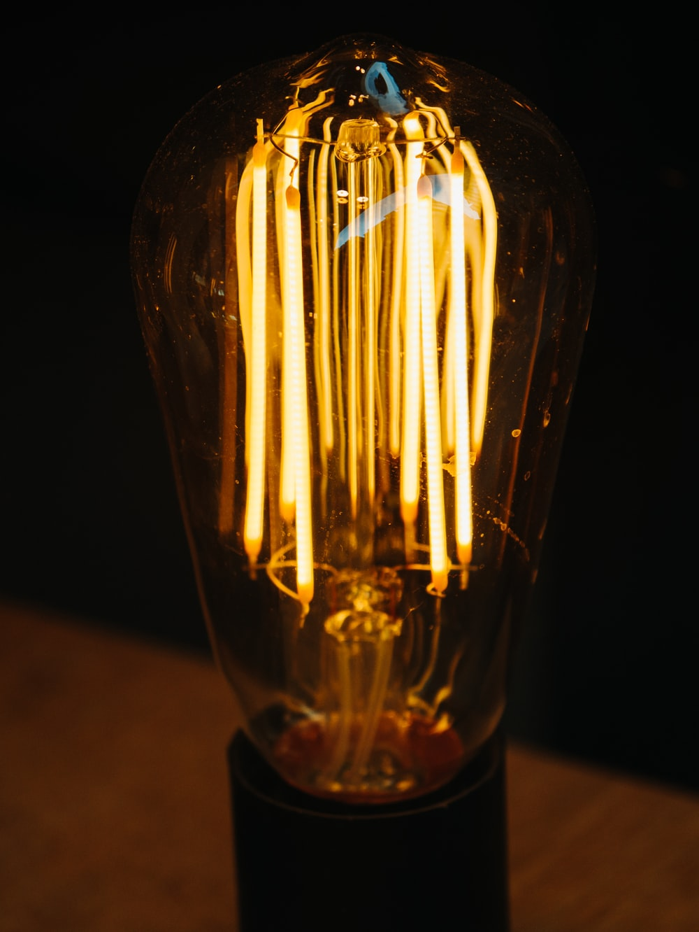 clear and black bulb