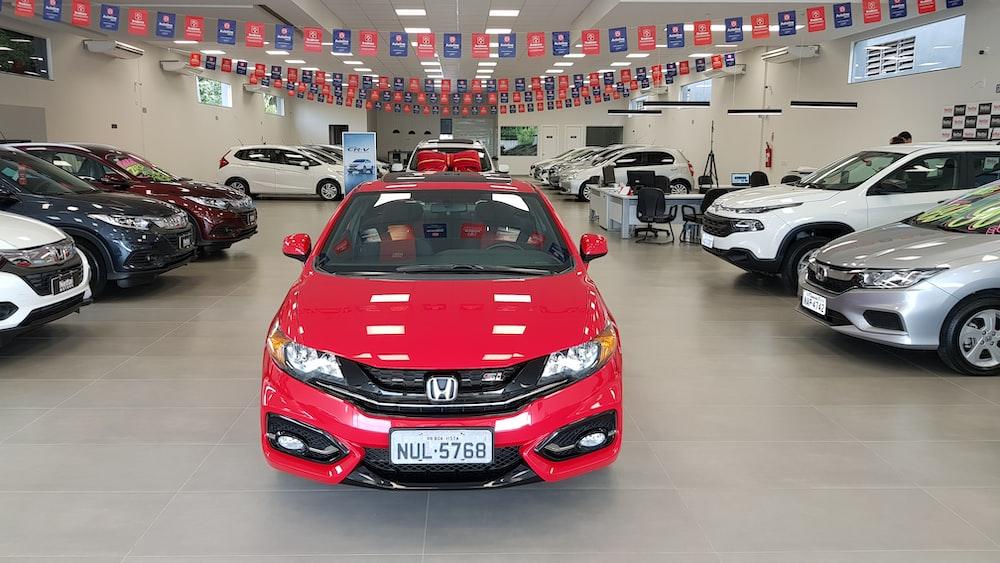 red Honda Civic sedan