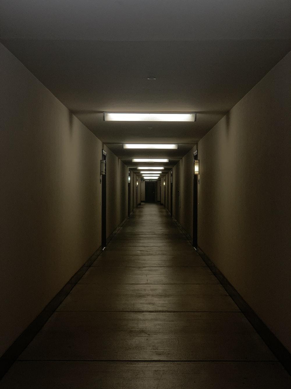 brown hallway