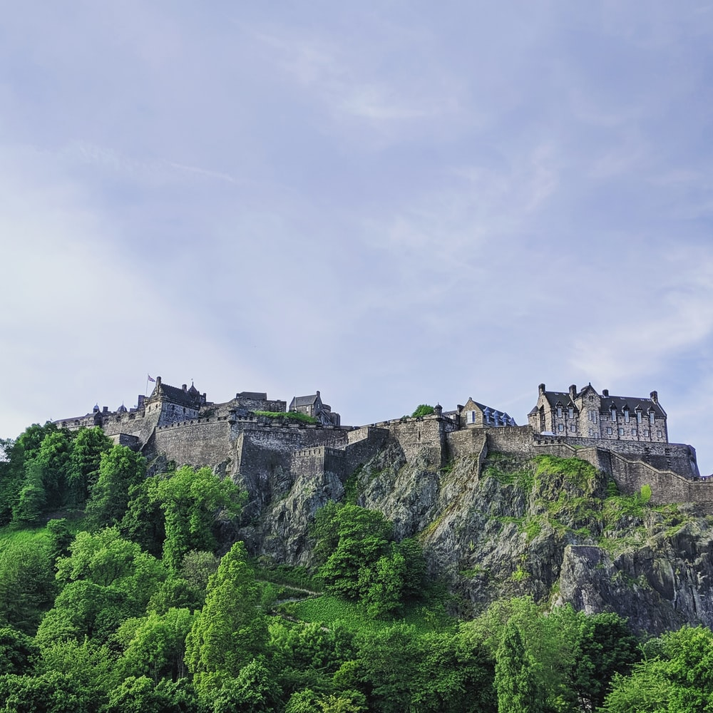 photography of castle on the top of mountain during daytime