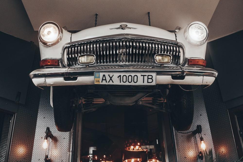 classic white vehicle