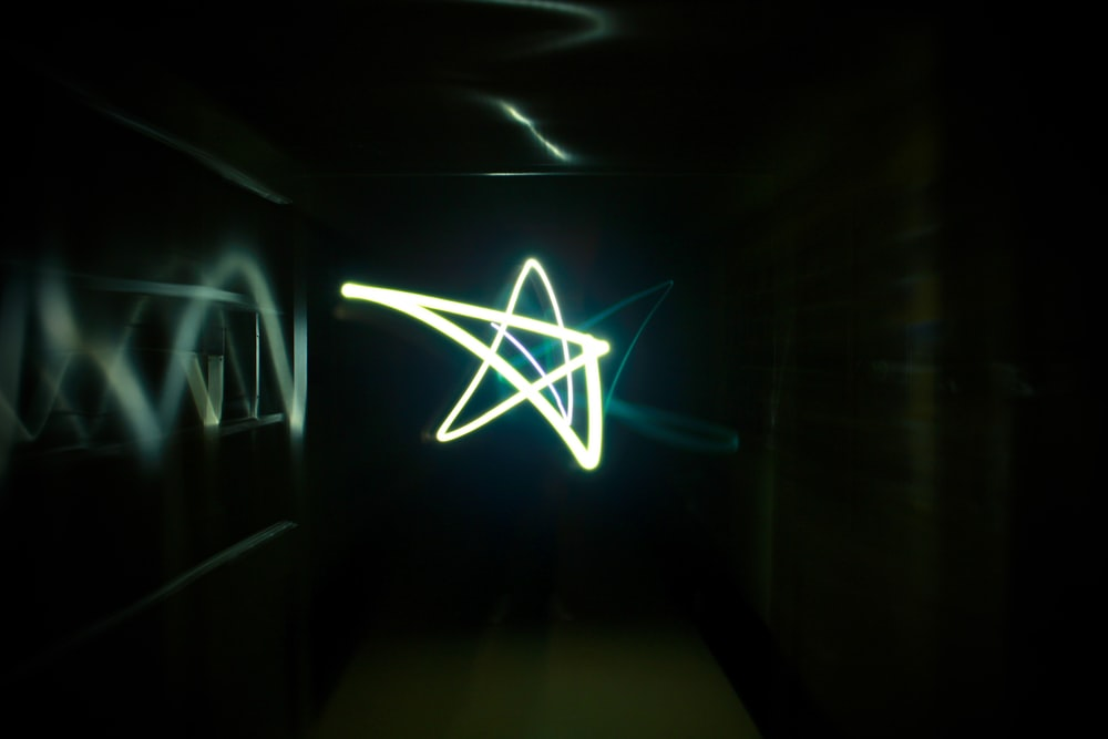 white star long exposure photography