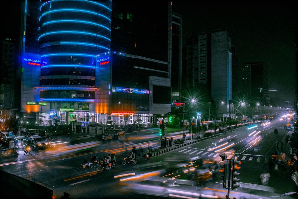 nighttime street scenery