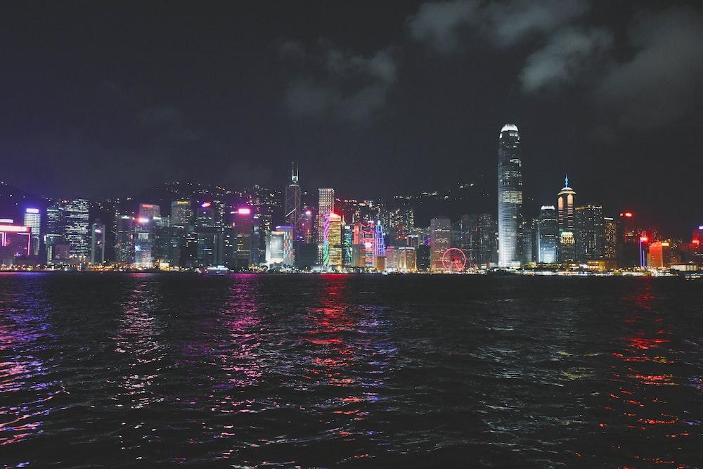 calm water across high rise buildings