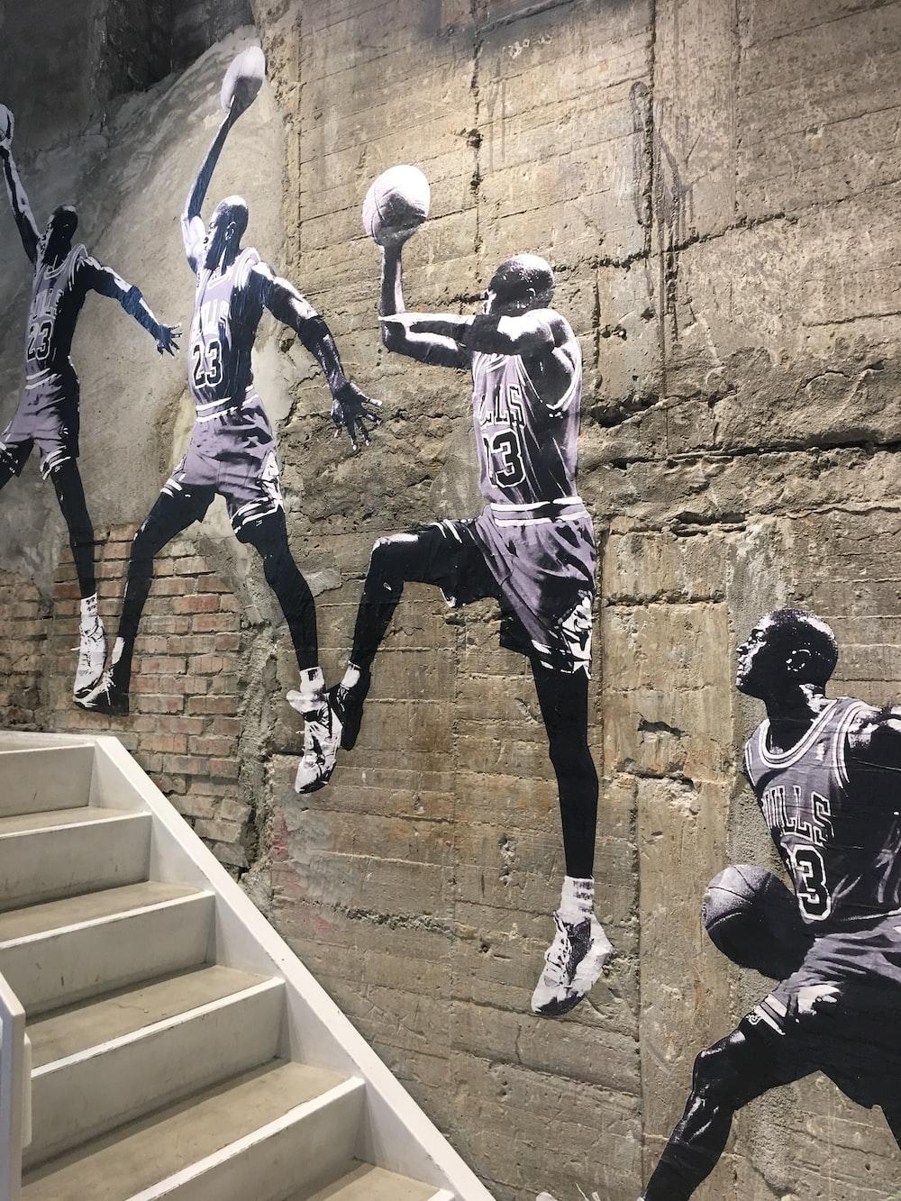 painting of Michael Jordan