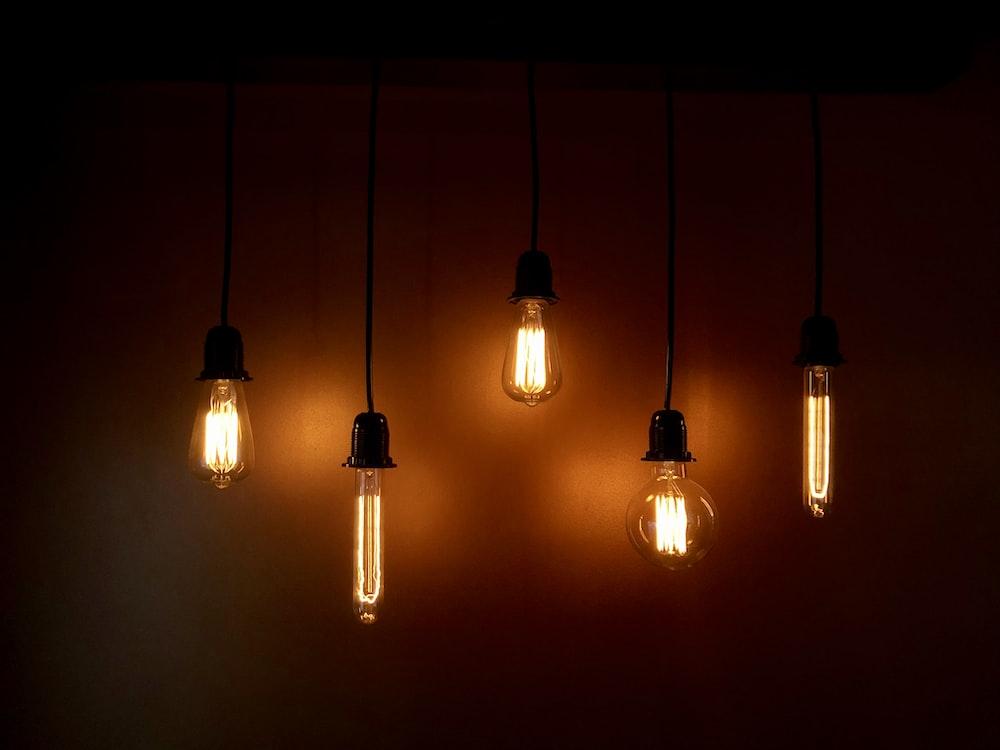 lighted hanging lights