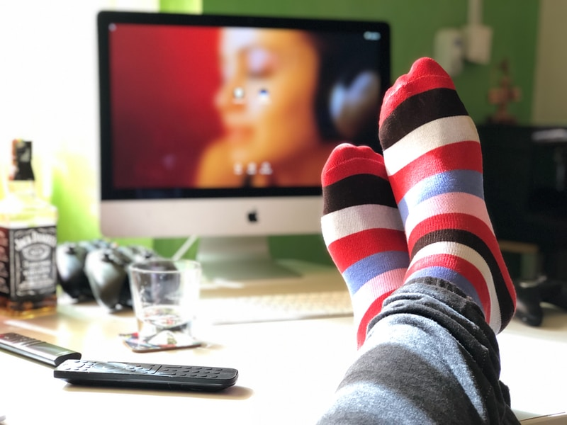 shallow focus photography of persons feet