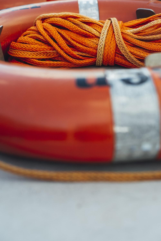 orange swim ring with rope