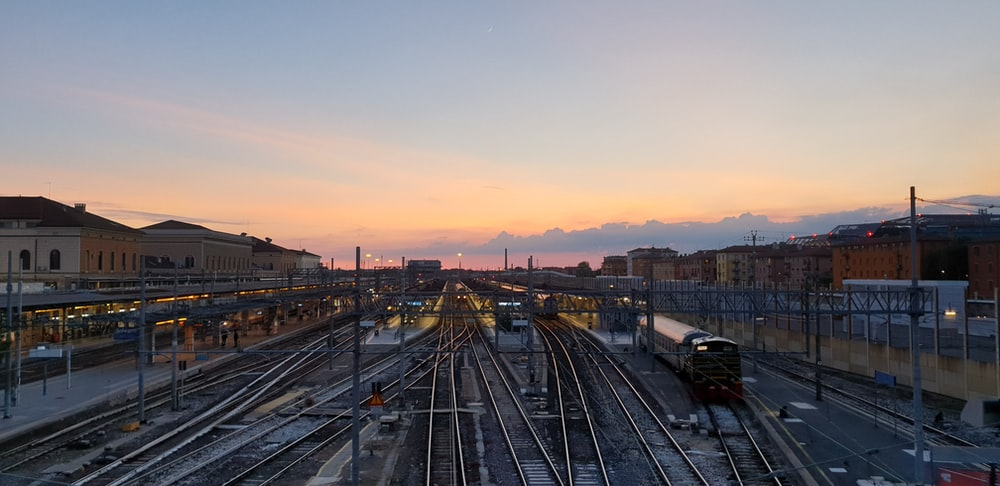 black train on train station
