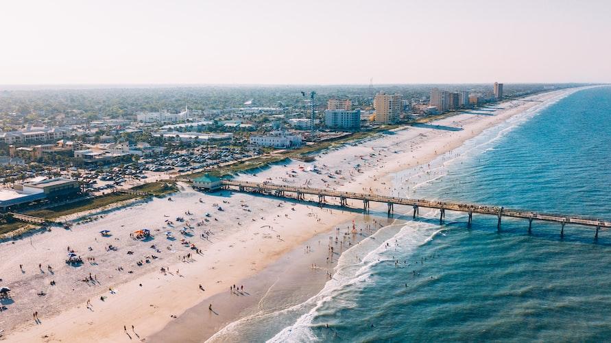 The beach in Jacksonville