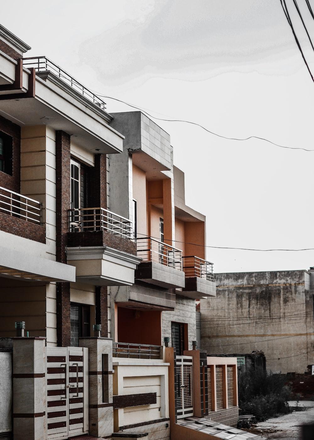 2-storey brown concrete building