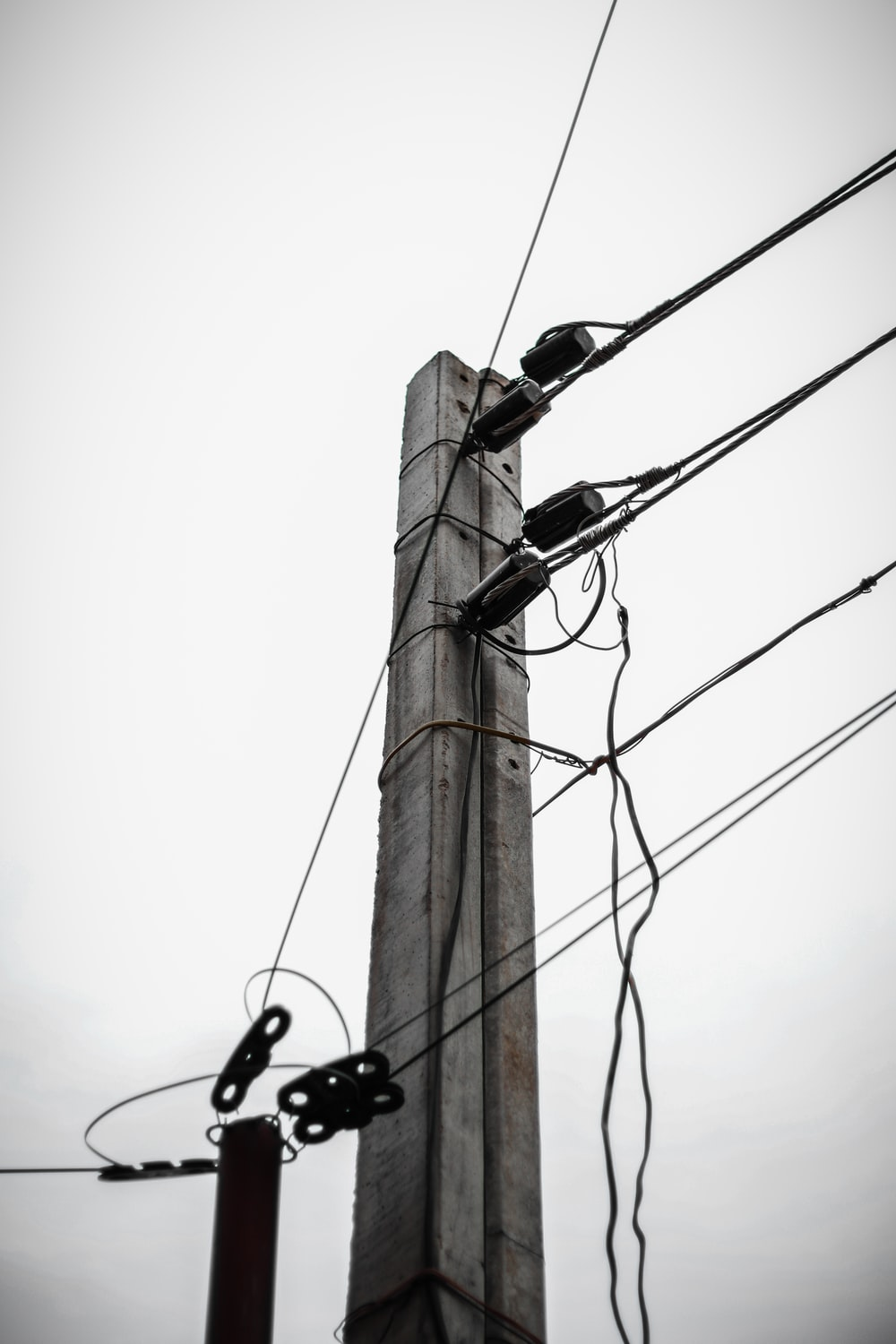 grey electric post