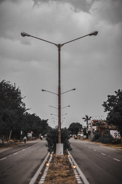 brown street lantern