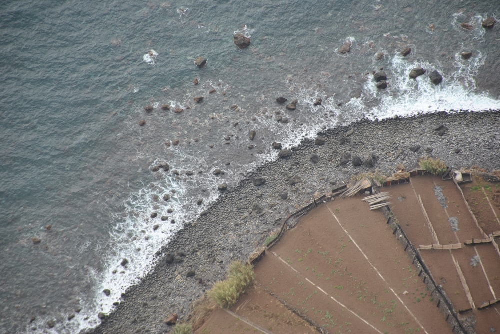 aerial photography of seashore during daytime