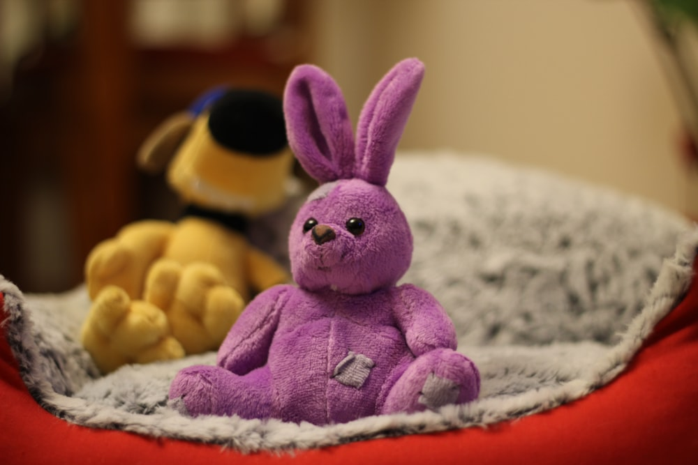 pink bunny plush toy, children's storybook, fiction books
