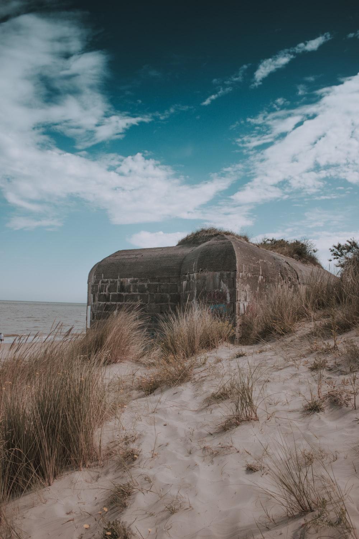 gray concrete dome