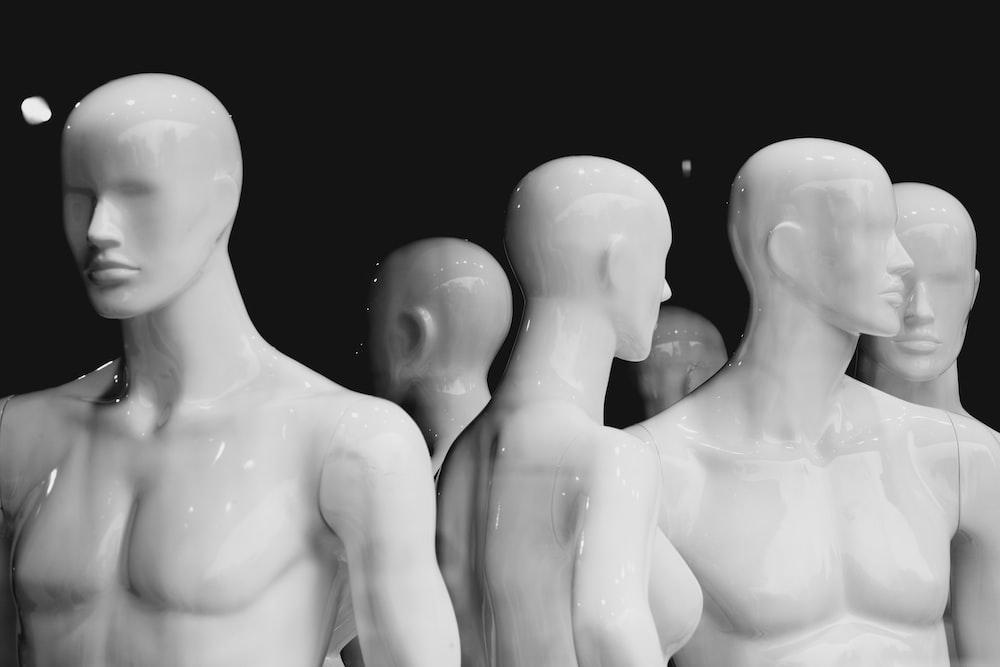 white mannequins lot