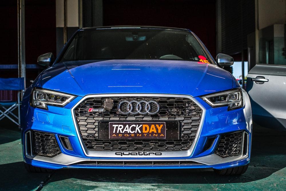 blue Audi Quattro