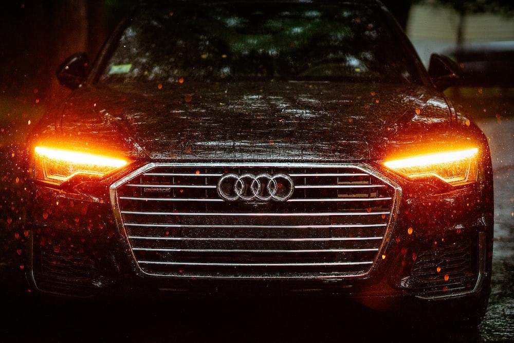 parked brown Audi car