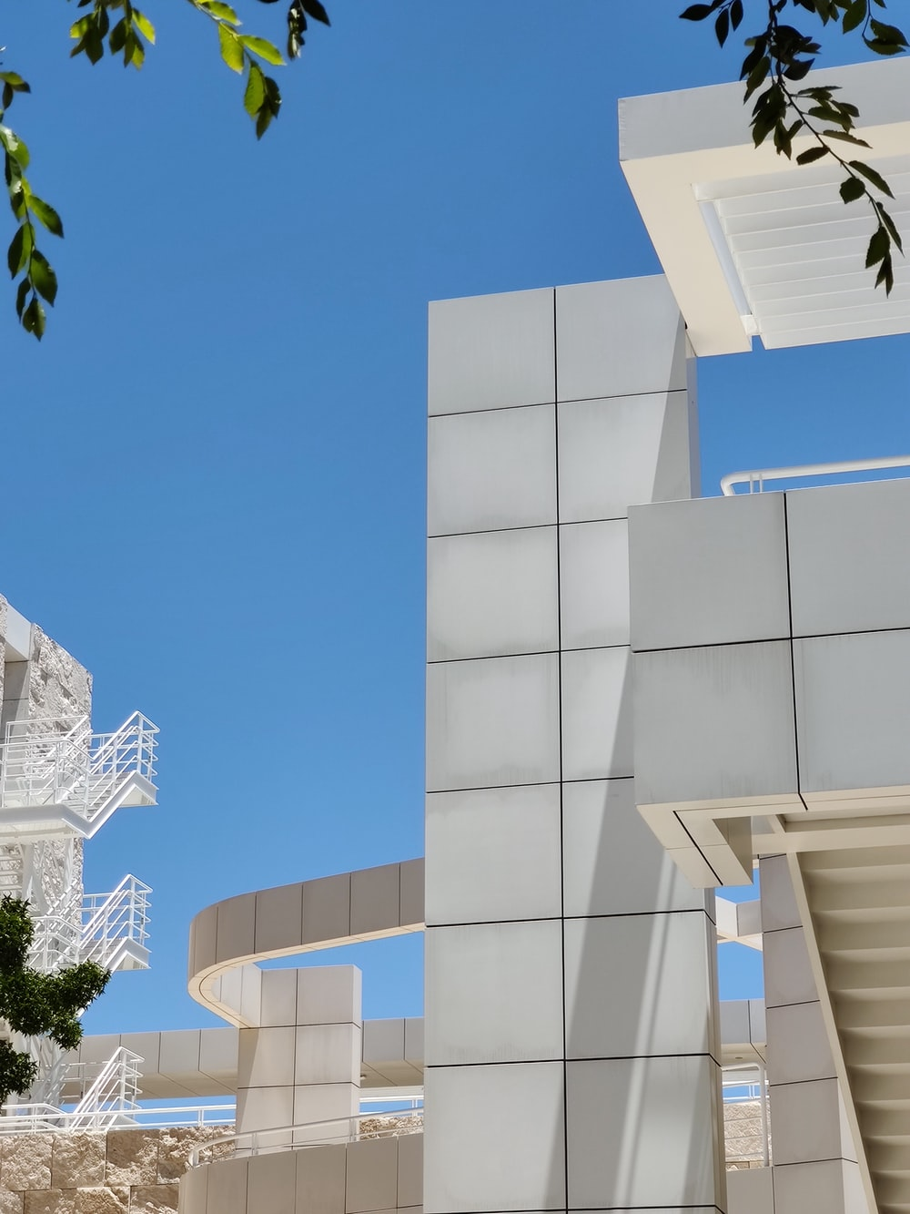 white painted building scenery