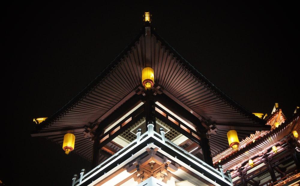 black wooden building