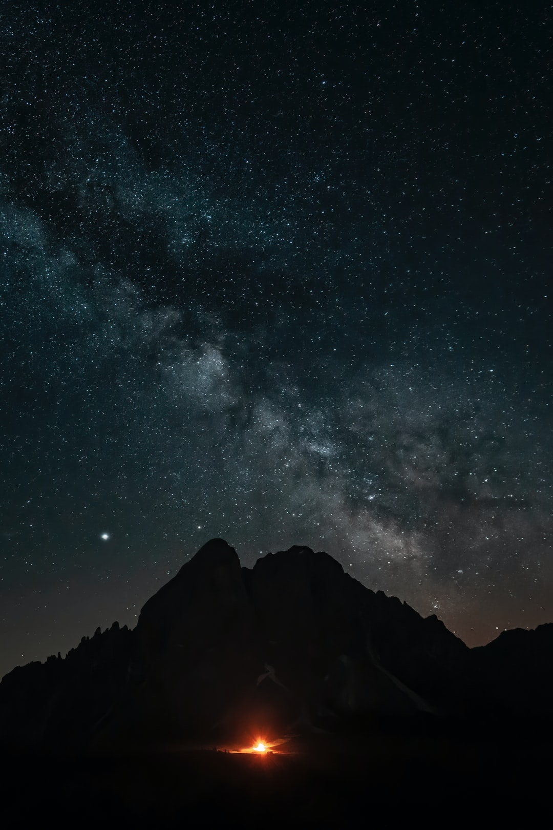 Milkyway over the peak Putia, Dolomites Nature Heritage, on June 30th, 2019!