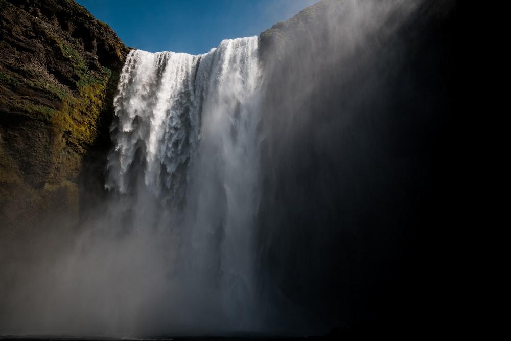 photograph of waterfalls