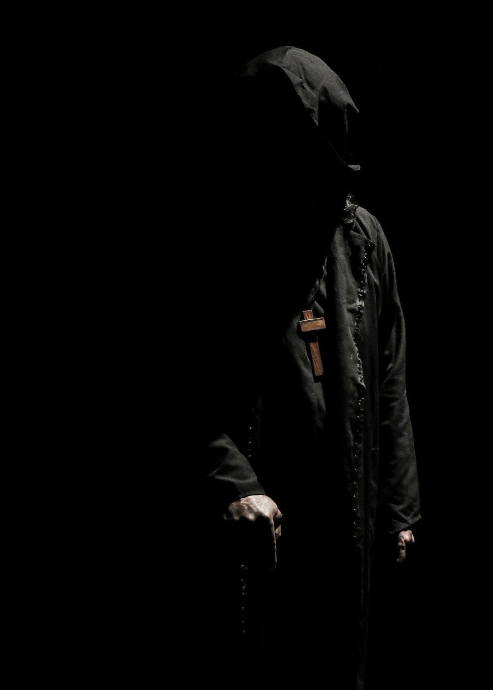 person wearing black jacket