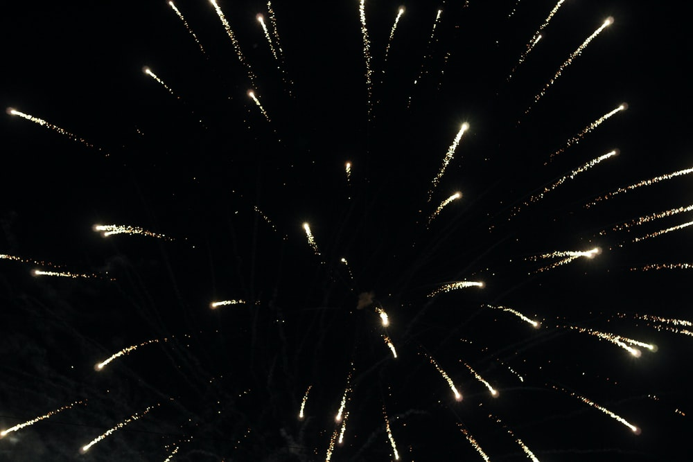 yellow fireworks during nighttime