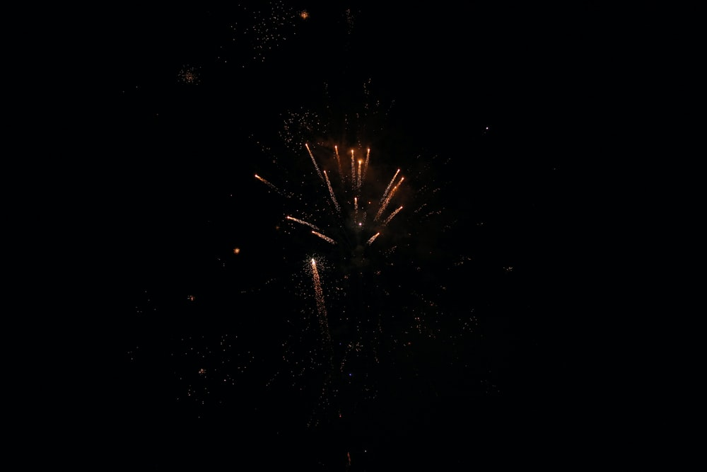 orange fireworks during nighttime