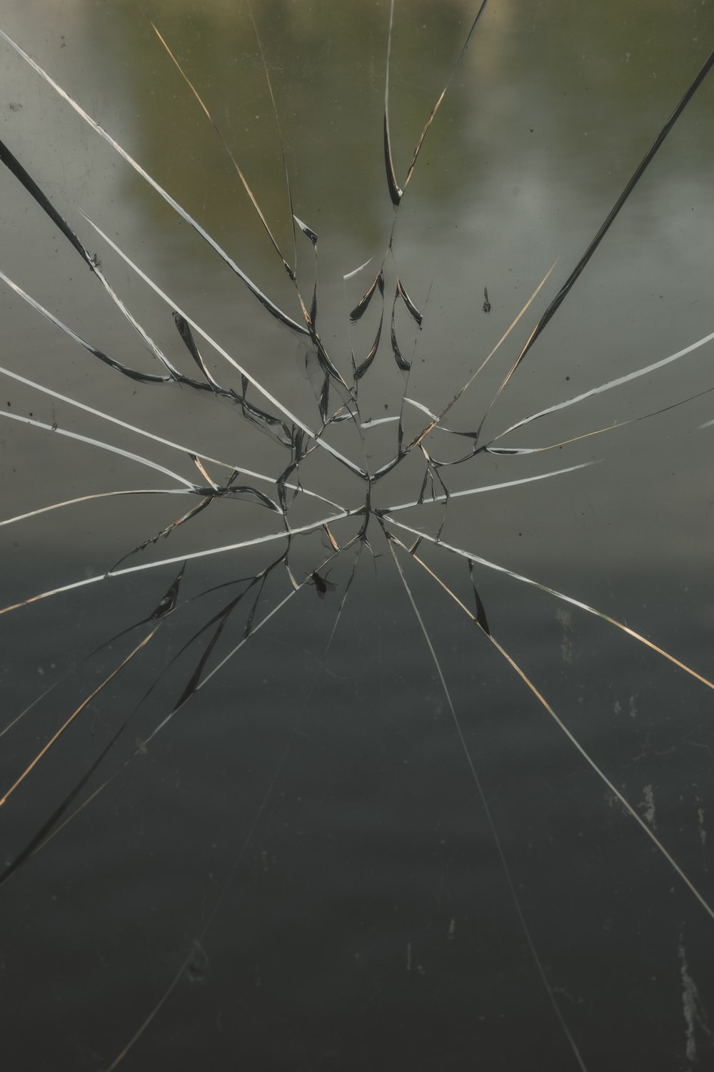 view of cracked glass