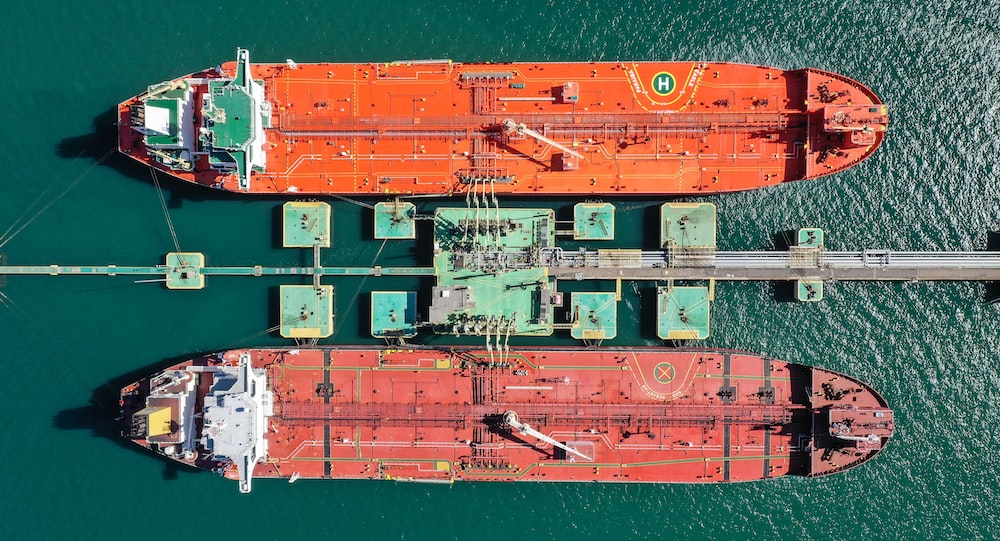 aerial photography of port with ships
