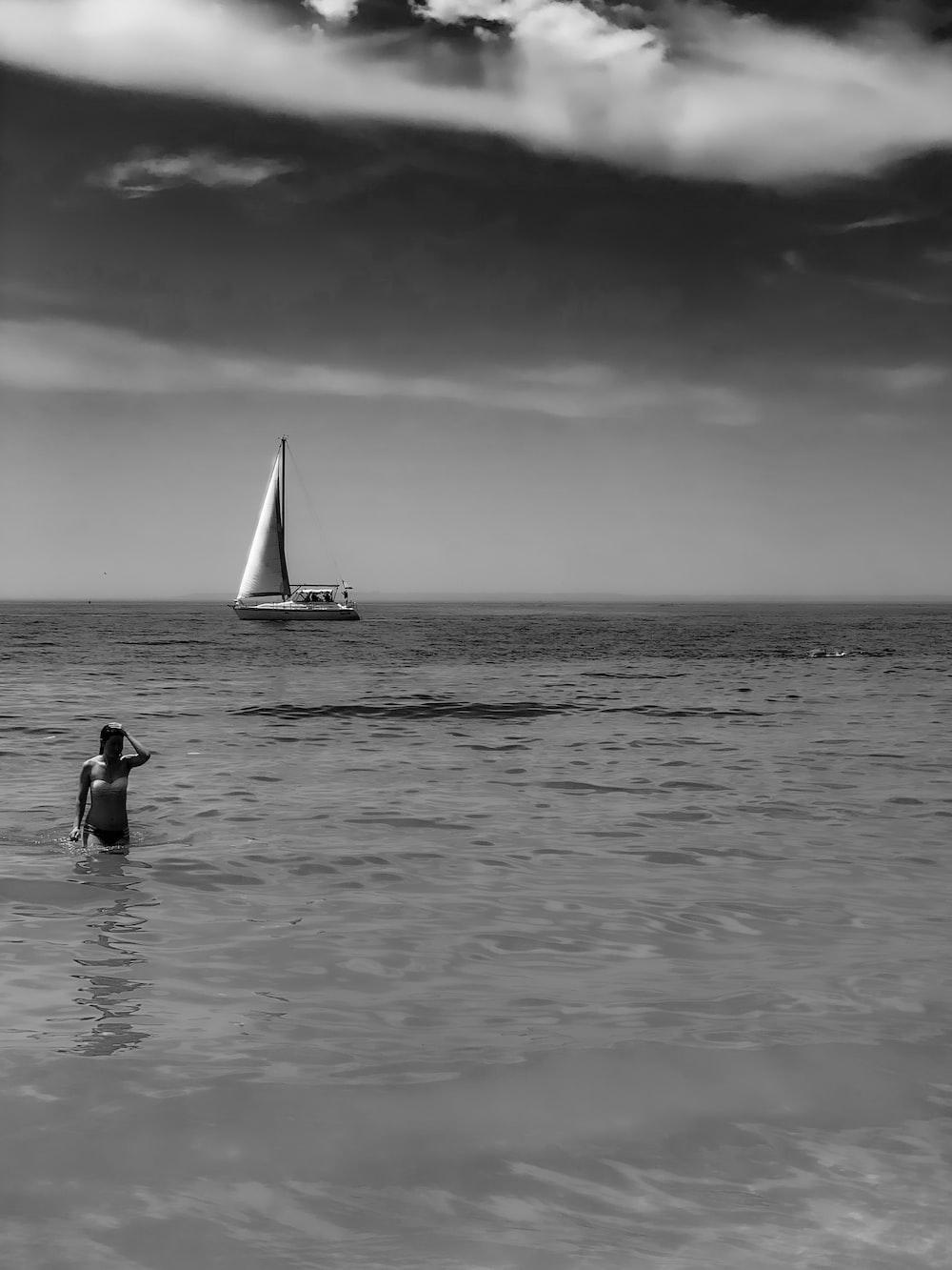 person in seashore