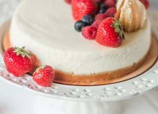 cake with strawberry toppings
