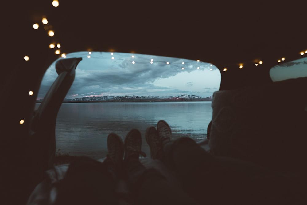 people inside car