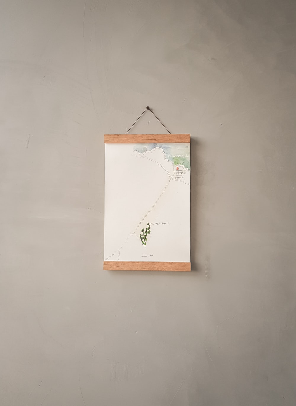white hanging decor