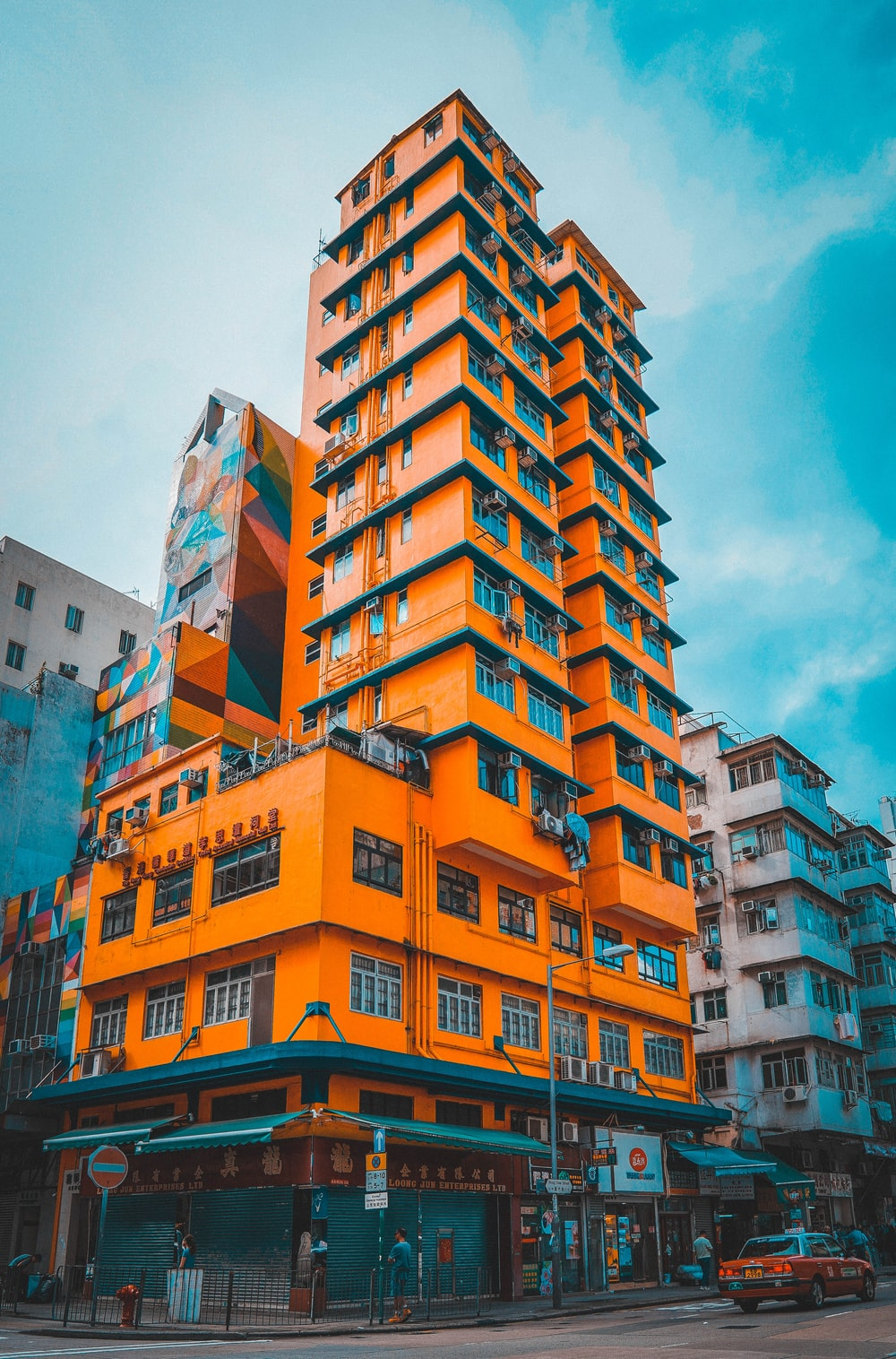 yellow high-rise building