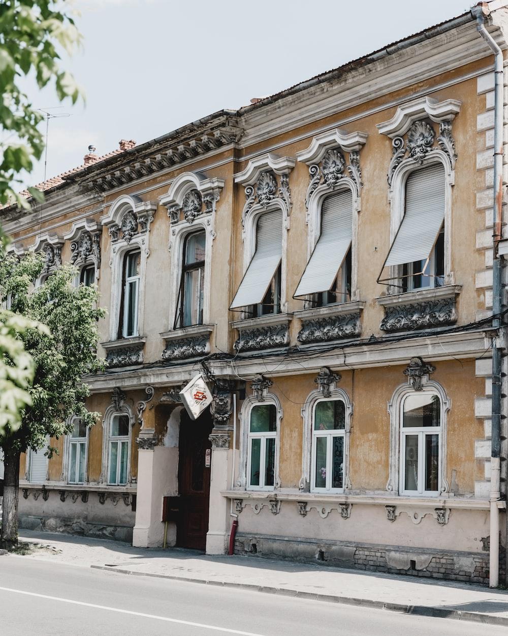 beige 2-storey building