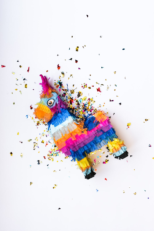 multicolored horse pinat