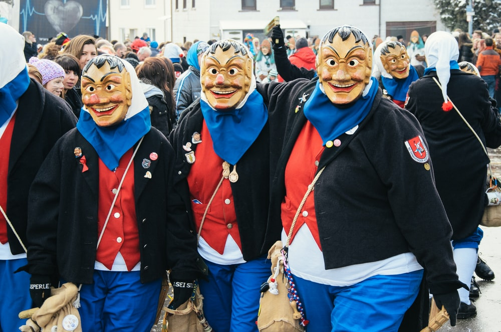 people wearing mask and jackets
