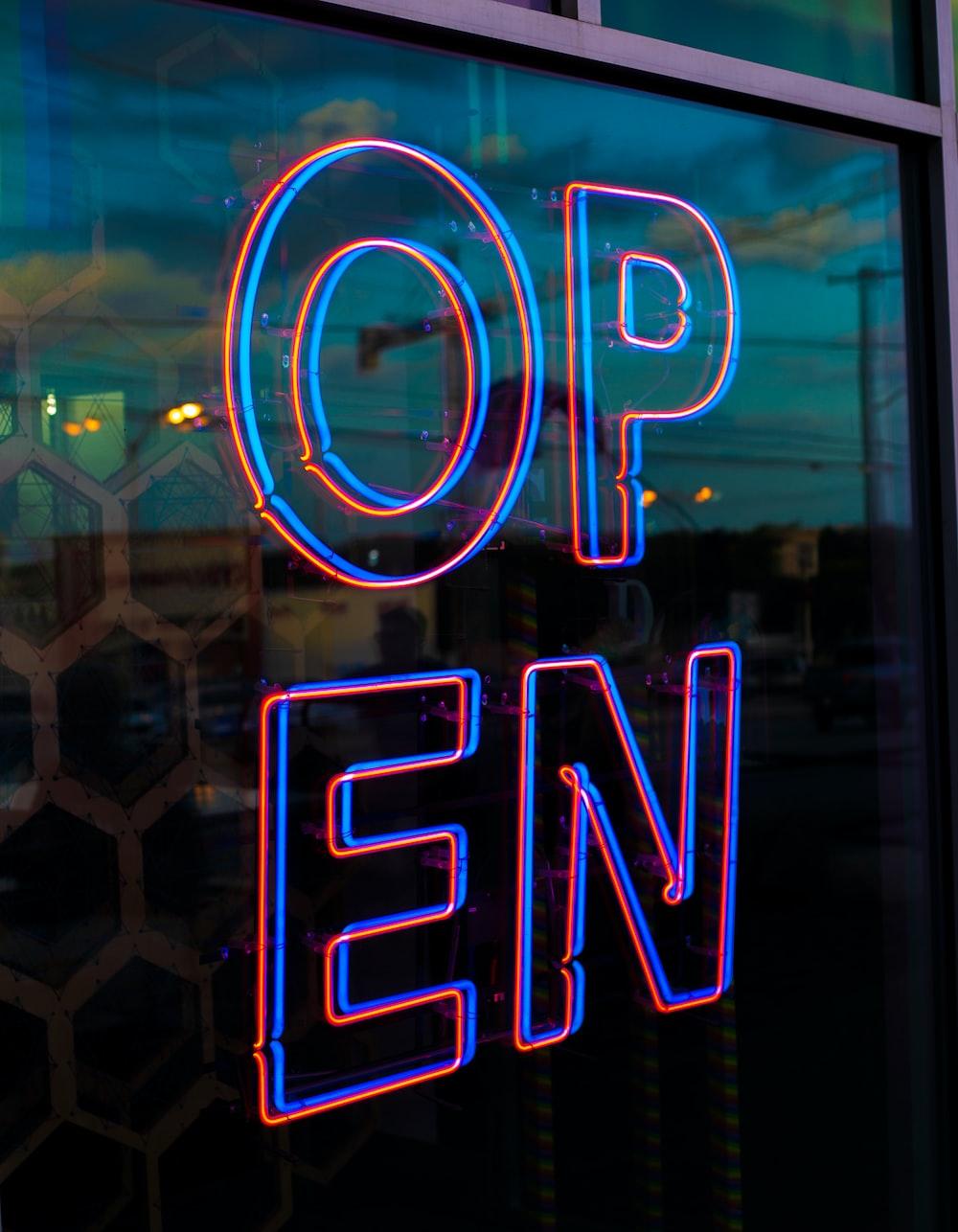 OPEN LED signage