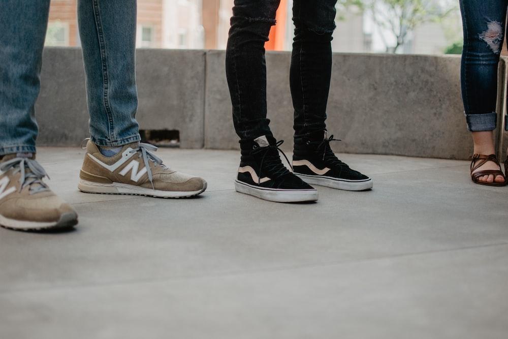 black-and-white Vans Sk8-Hi sneakers