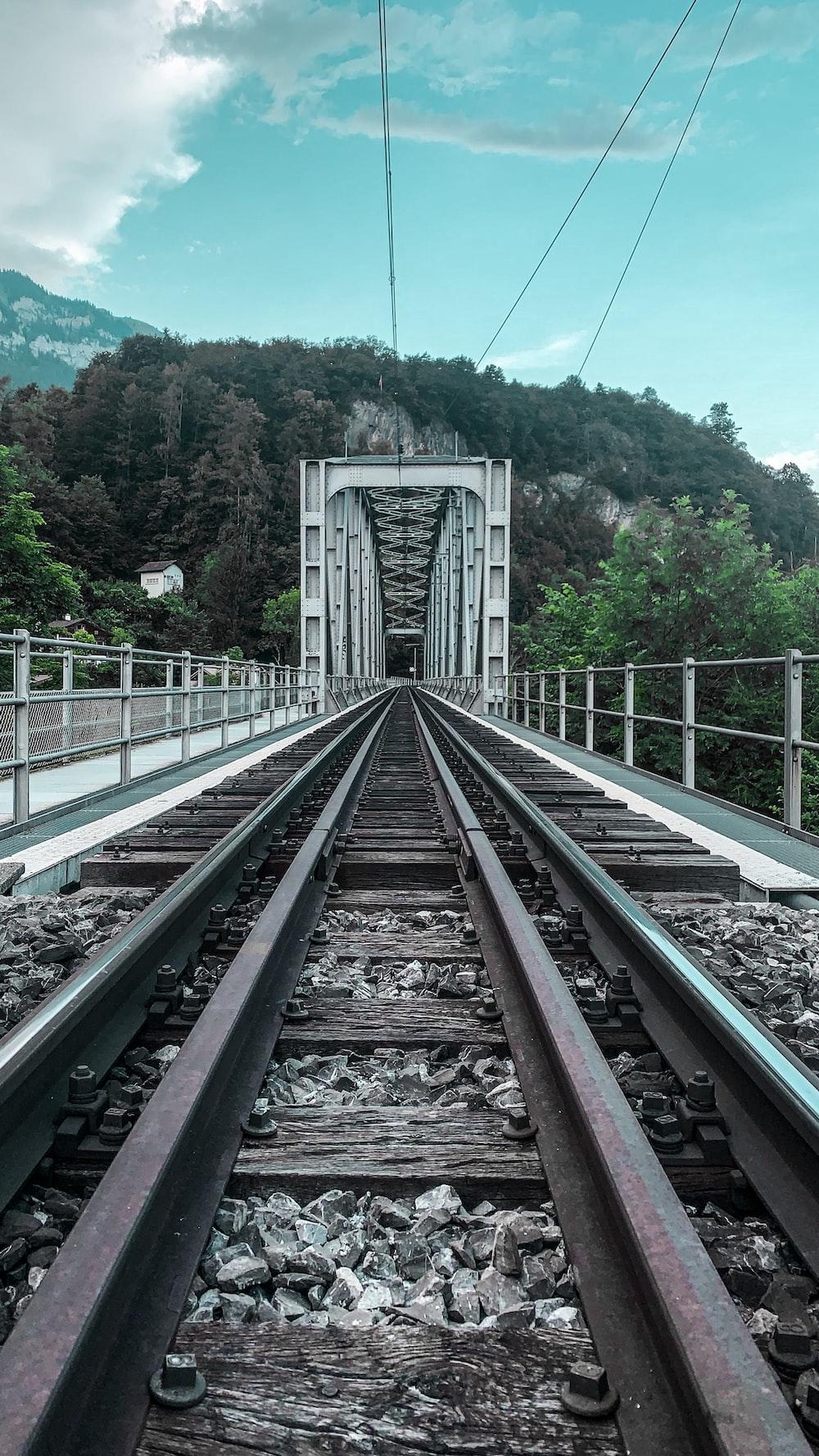 railway leading to the mountain