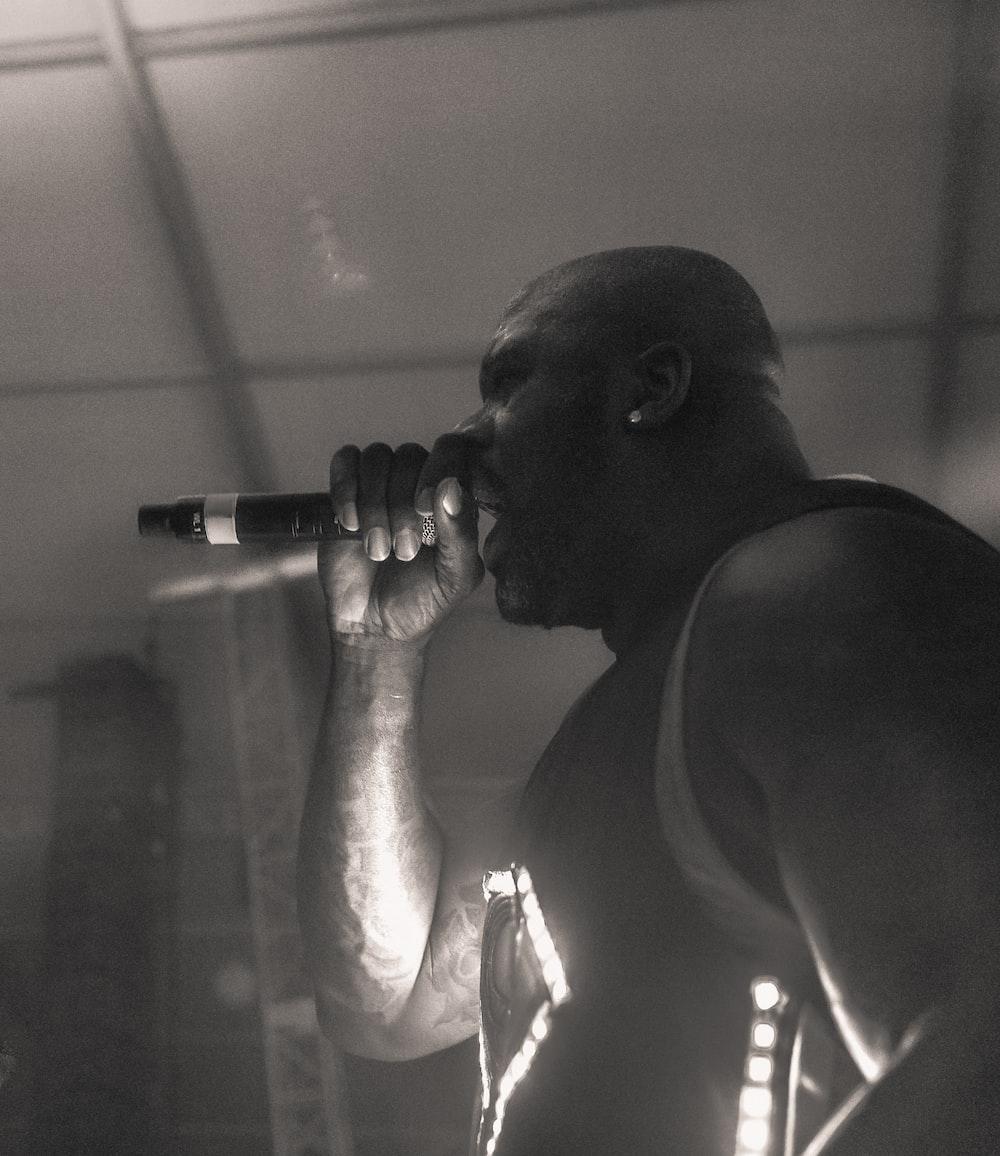 man performing