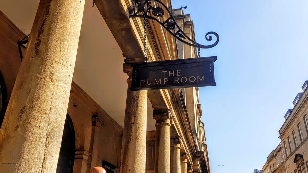 the pump room signage