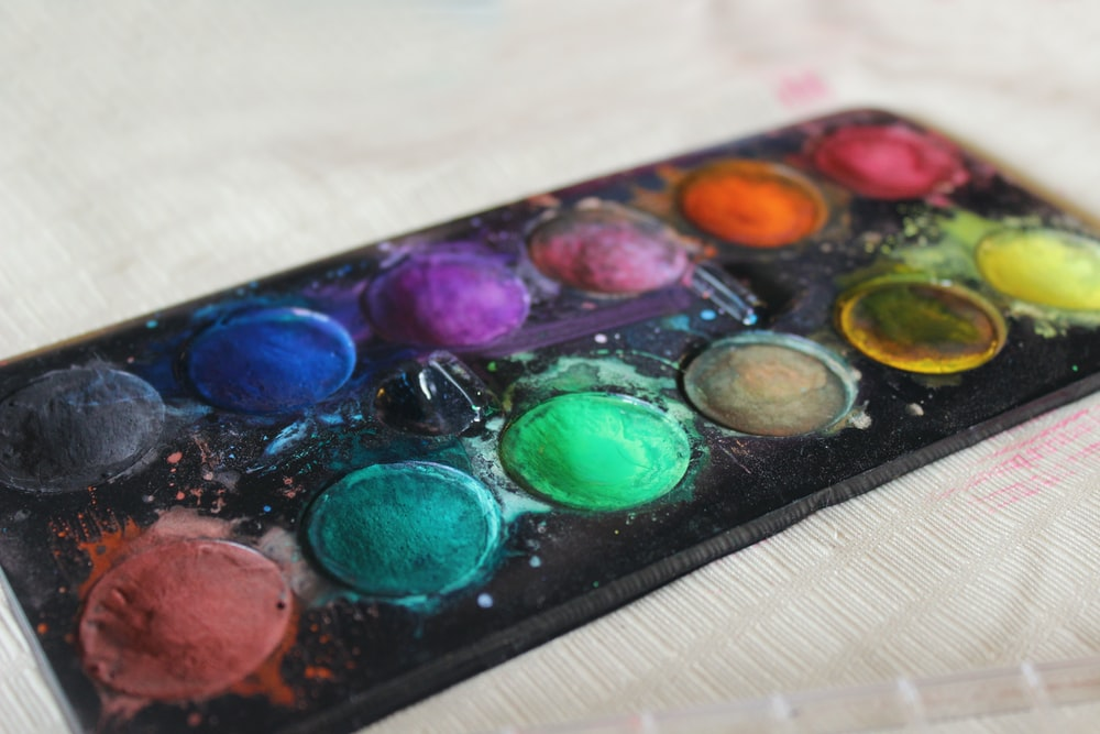 assorted water color pads