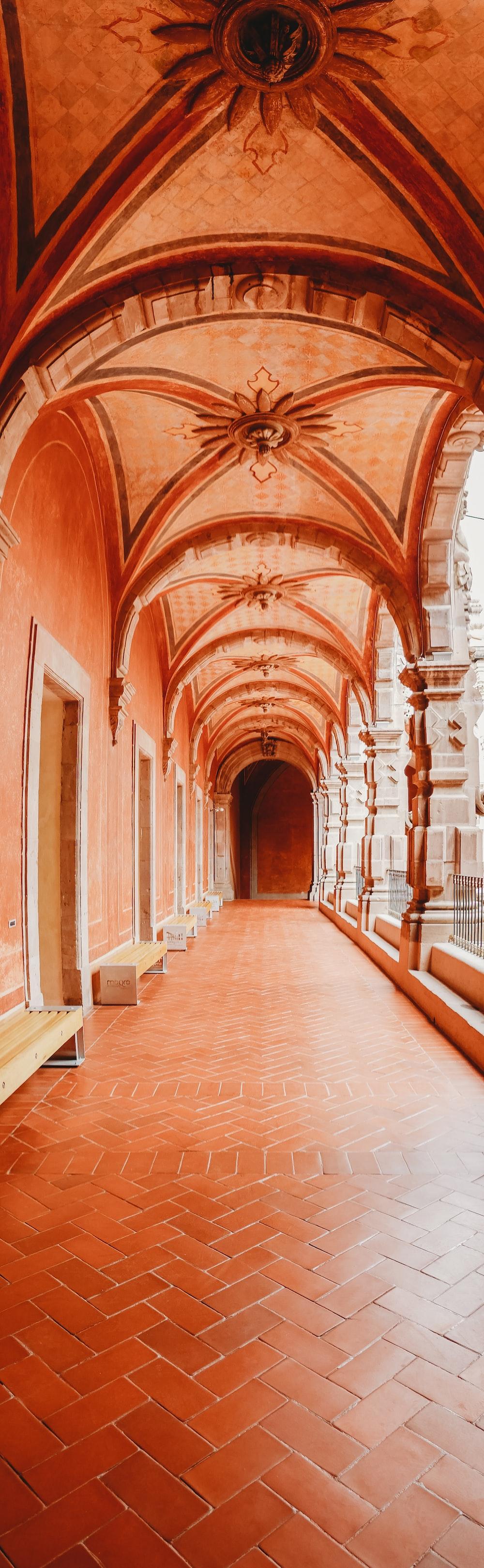empty brown hallway