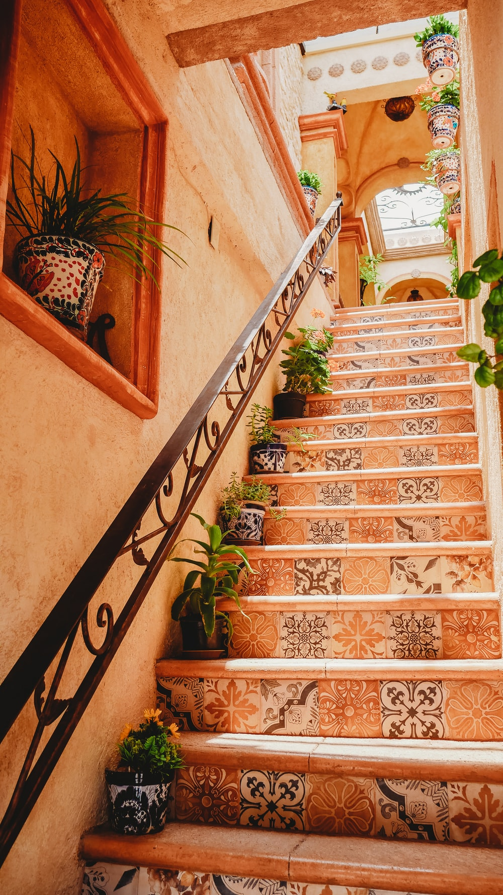 Mexican home decor - talavera tiles for stairs